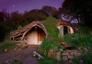 Extérieur maison hobbit