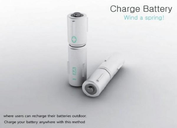 Pile rechargeable a la main 1